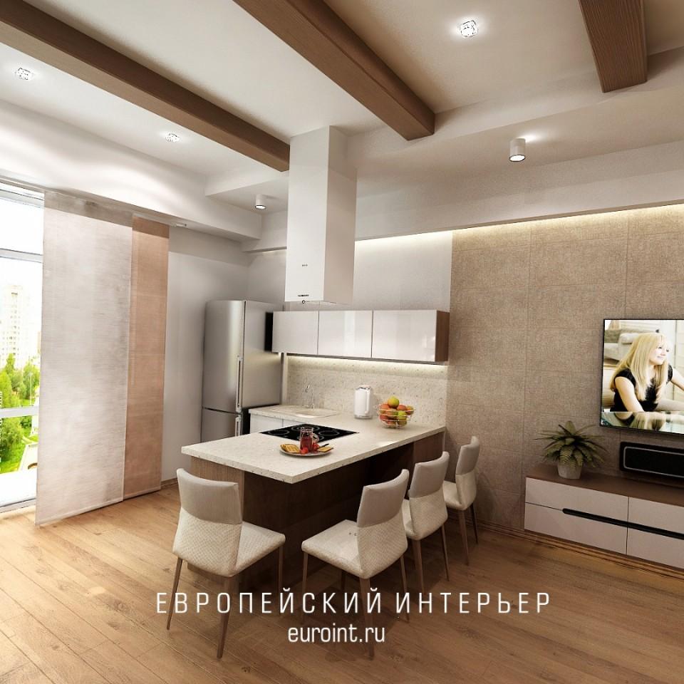 """квартира-студия жк""""Лесопарковый"""" 47м2"""
