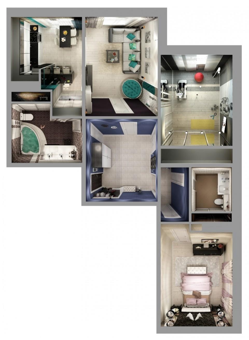 """3-х комнатная квартира жк""""Ариант"""" 94м2"""