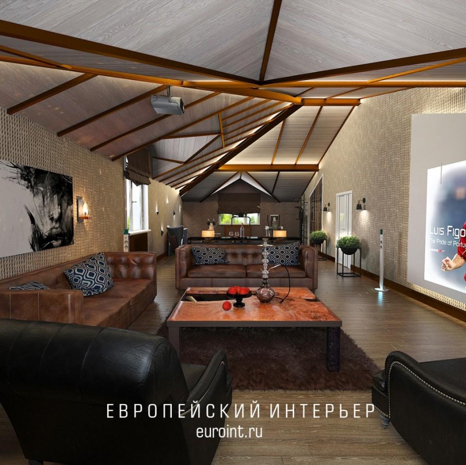 """трехэтажный загородный дом """"Лесной остров"""" 300м2"""