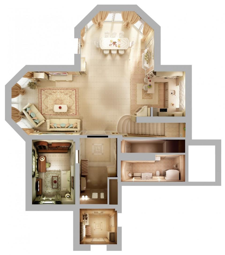 """двухэтажный загородный дом """"Малинки Village"""" 250 м2"""
