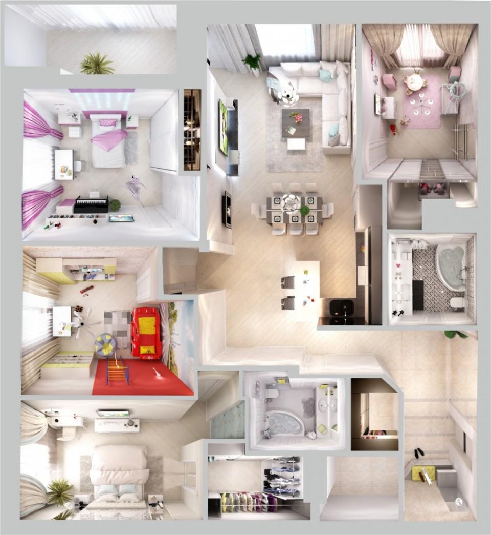 """5-и комнатная квартира жк""""Манхэттен"""" 154 м2"""